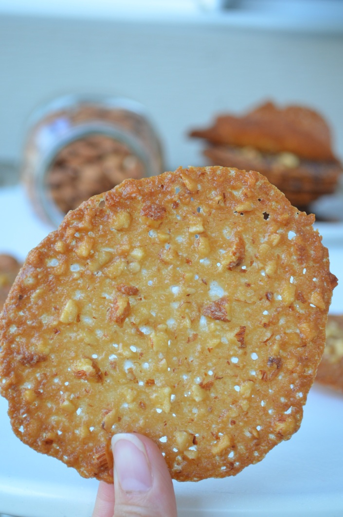 Almond Orange Lace Cookies