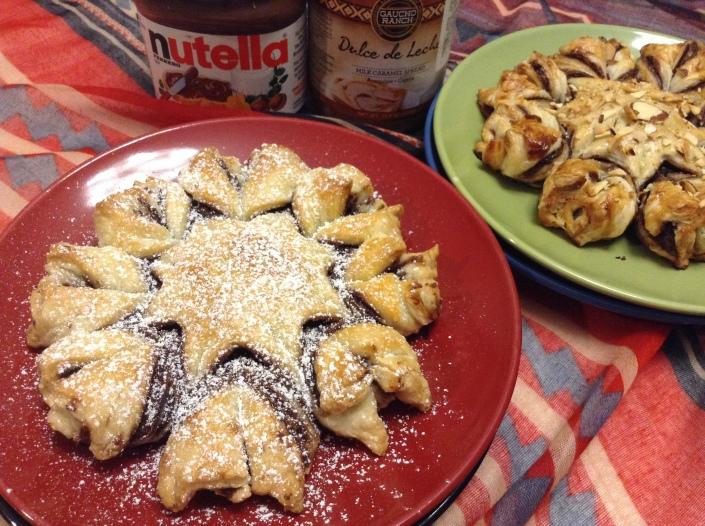 Nutella & Dulce De Leche Pull Apart Puff Pastry