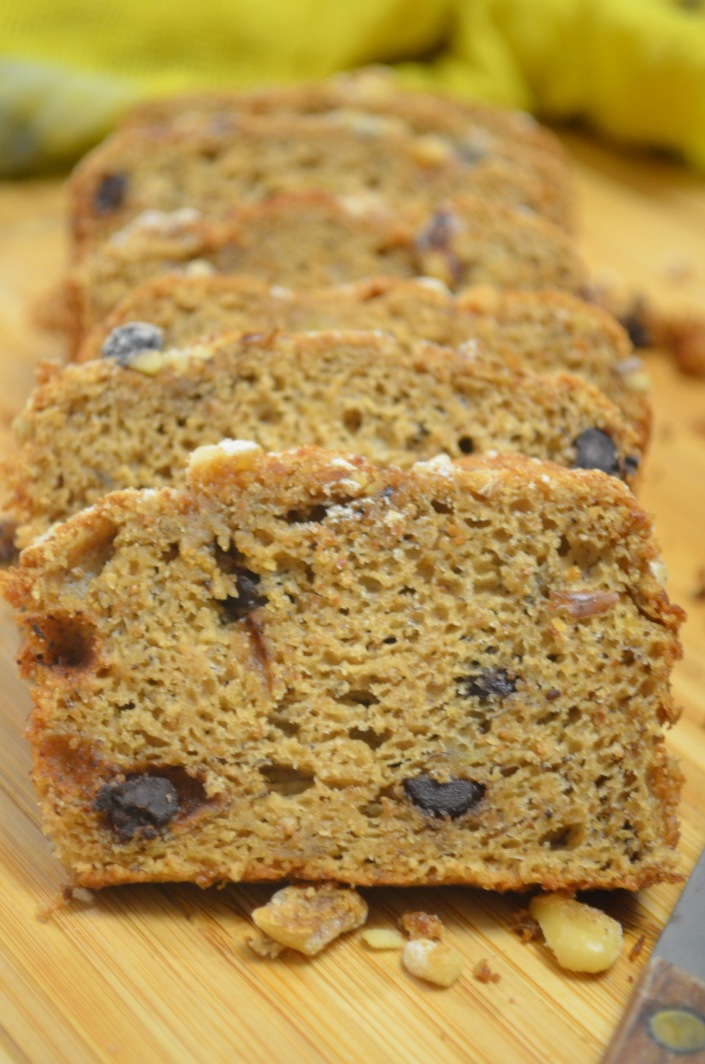 Banana Walnut Sponge Bread