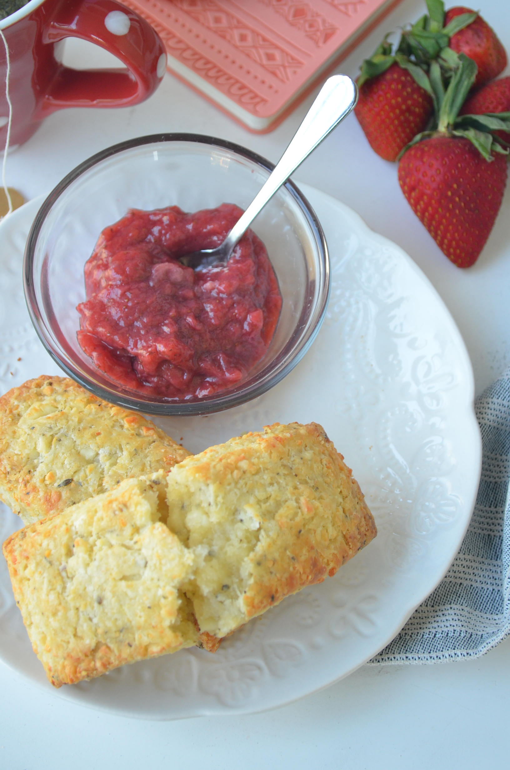 Buttermilk Feta Biscuits By SweetnSpicyLiving.com