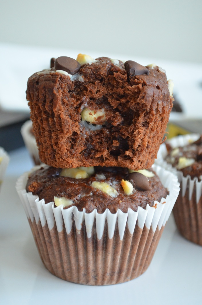 Chocolate Banana Muffin by SweetNSpicyLiving.com