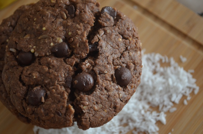 Chocolate Coconut Oatmeal Cookies