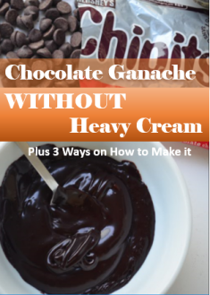 Chocolate Ganache Without Heavy Cream and 3 Ways on How To Make It