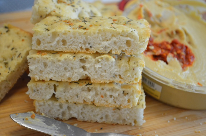 Garlic and Herbes Focaccia Bread