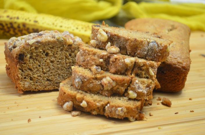 Low Fat Banana Sponge Bread