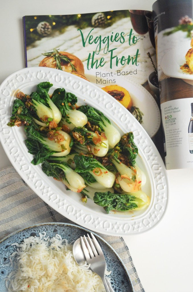 Easy Gluten Free Garlic Bok Choy