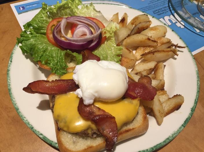 Classic Burger with Medium Poach Egg at CORA
