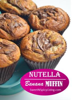 Nutella Swirl Banana Muffin 3