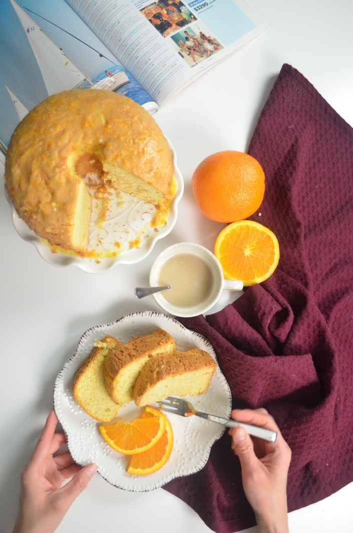 Small Batch Orange Chiffon Cake By SweetNSpicyLiving