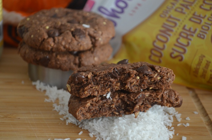 Soft and Chewy Oatmeal Coconut Chocolate Chip Cookies