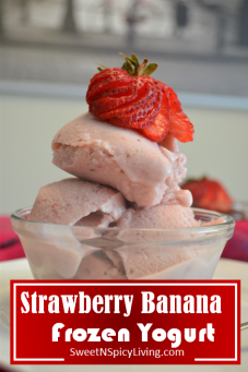 Strawberry Banana Frozen Yogurt 2