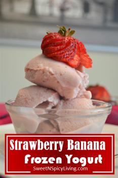 Strawberry Banana Frozen Yogurt 2