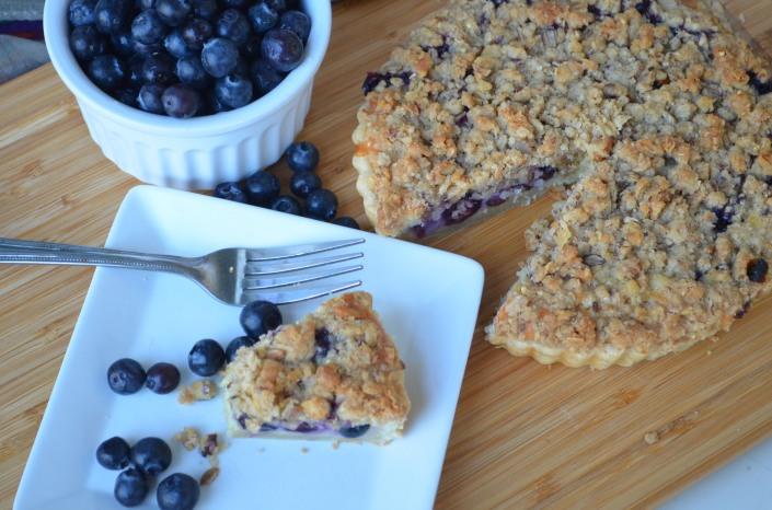 Blueberry Custard Cake Crumble Pie Recipe