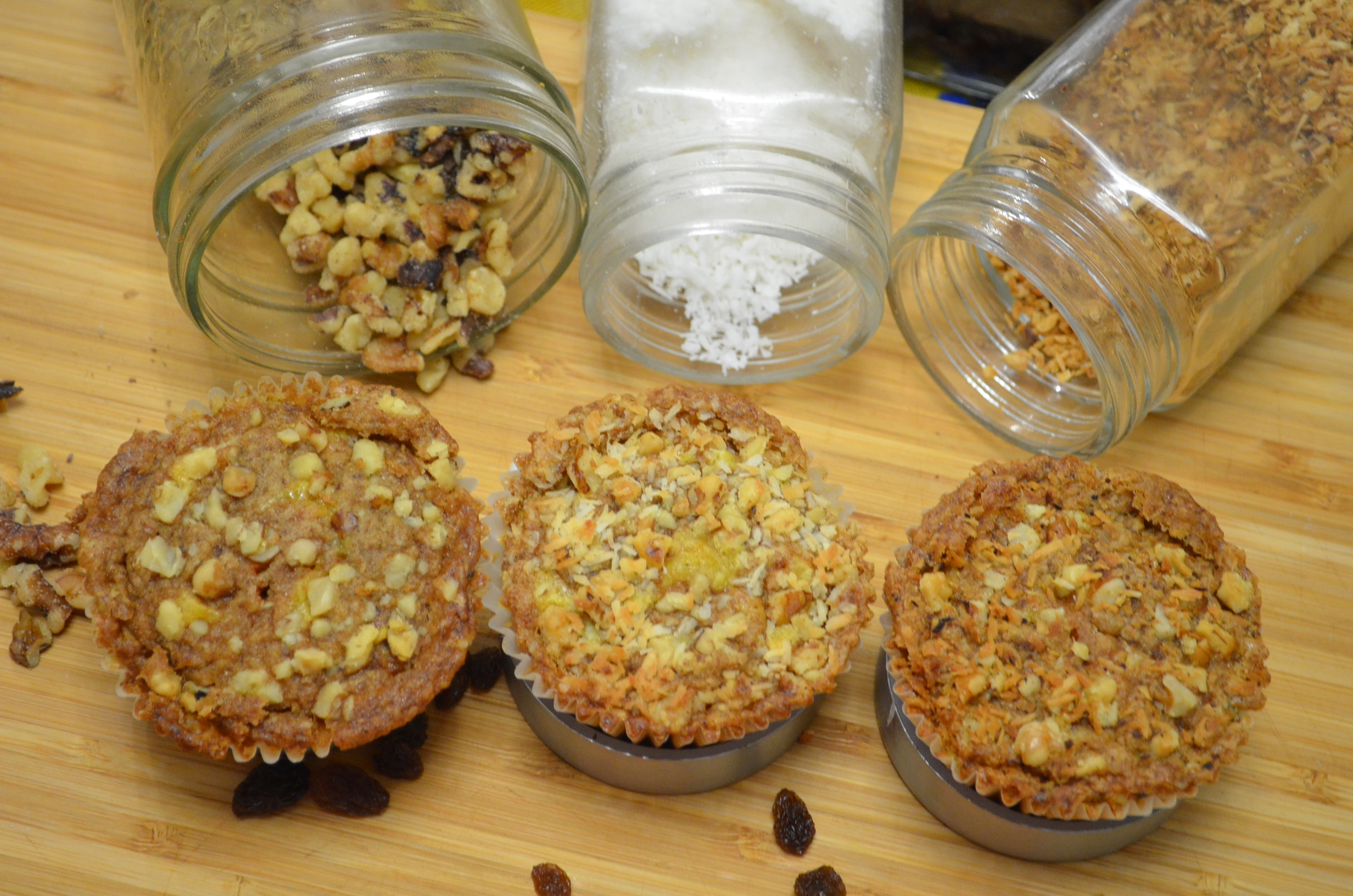 Whole Wheat Carrort Streusel Muffin