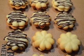 Shortbread Cookies with Chocolate Ganache