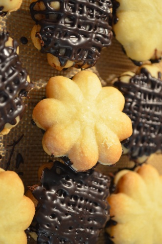 Shortbread Chocolate Ganache Cookies