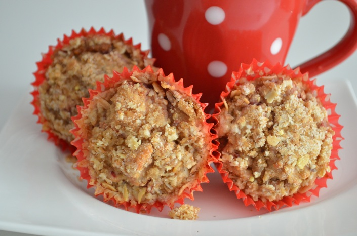 Whole Wheat Strawberry Streusel Muffins Recipe