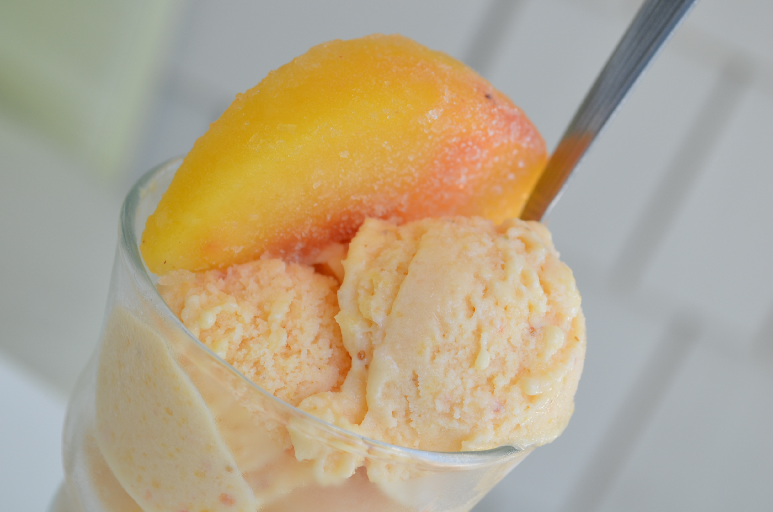 Peaches and Pineapple Sorbet