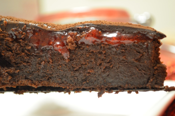 Small Batch Flourless Fudge Chocolate Cake with Chocolate Ganache Frosting