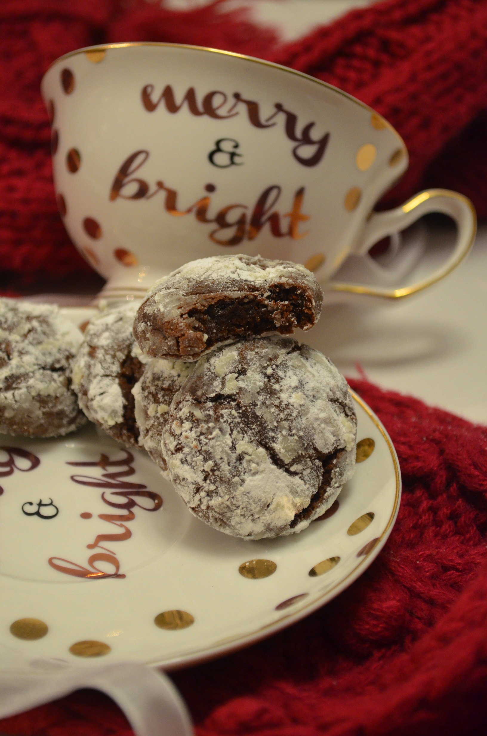 Recipe for small batch Chocolate Crinkles