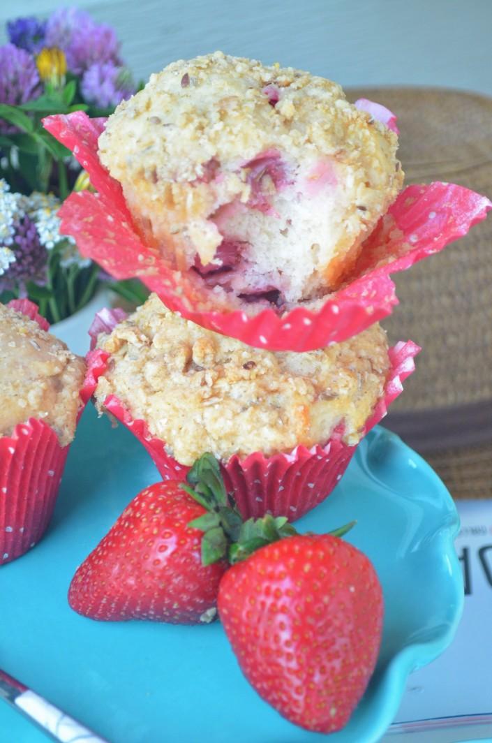 Small Batch Strawberry Muffins