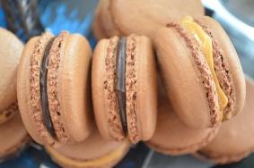 Chocolate Caramel Macarons