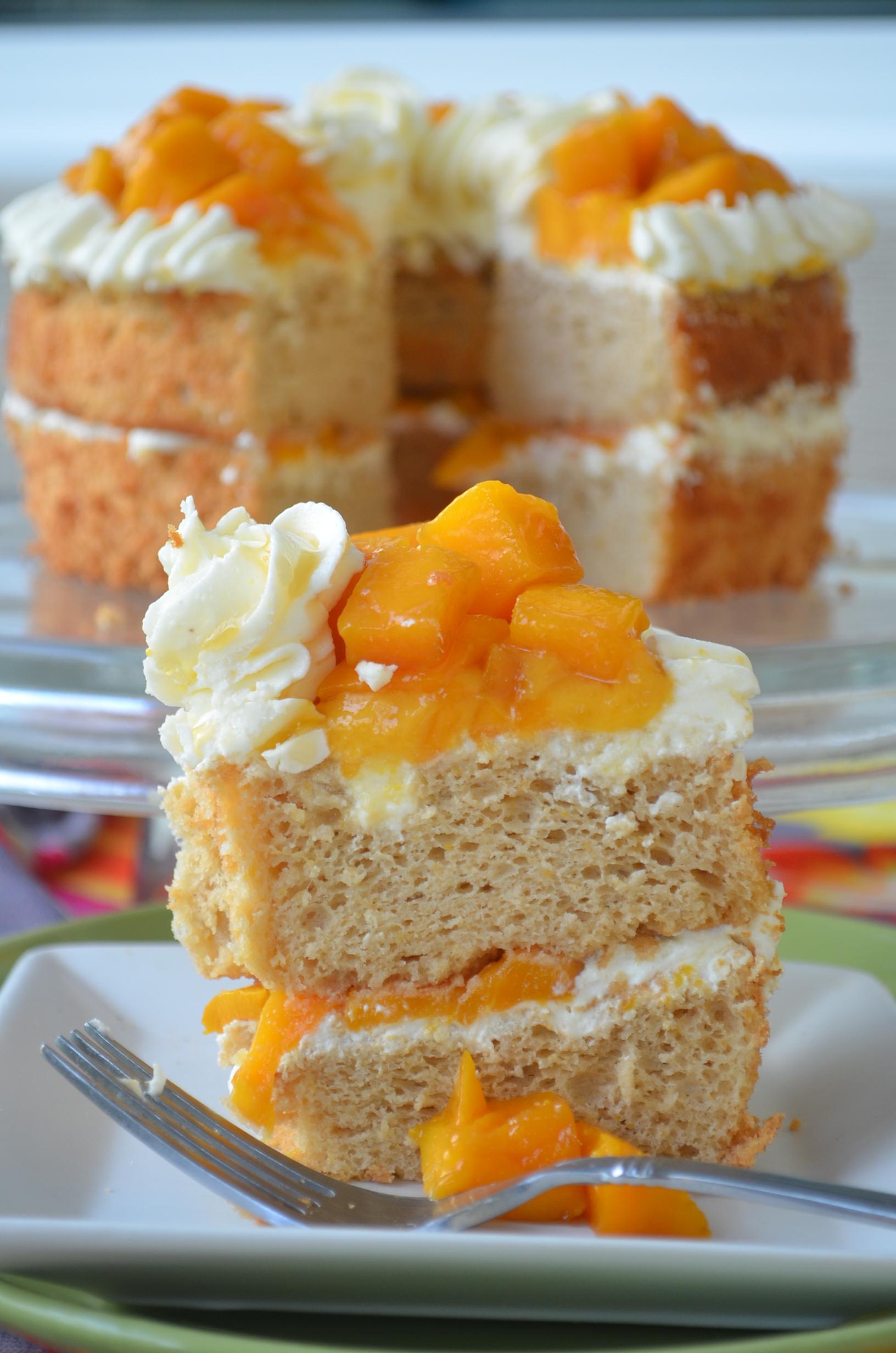 Mango Coconut Chiffon Cake