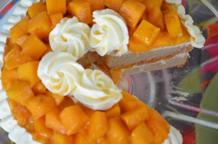 Mango Coconut Chiffon Cake Recipe