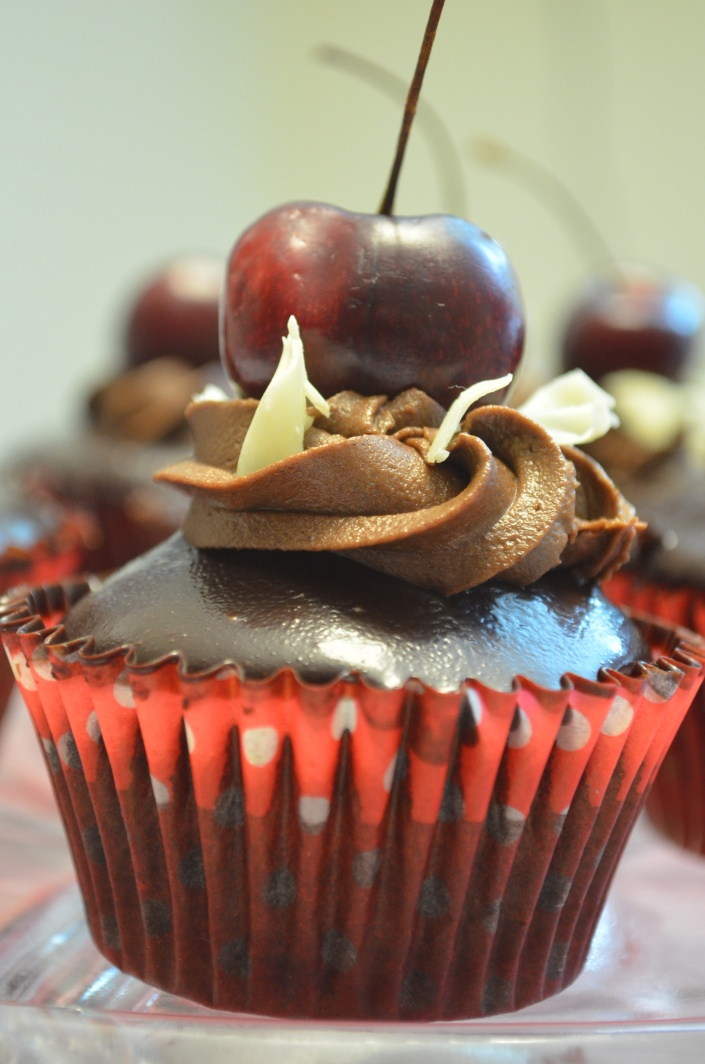 Chocolate Cupcakes with Chocolate Ganache Frosting