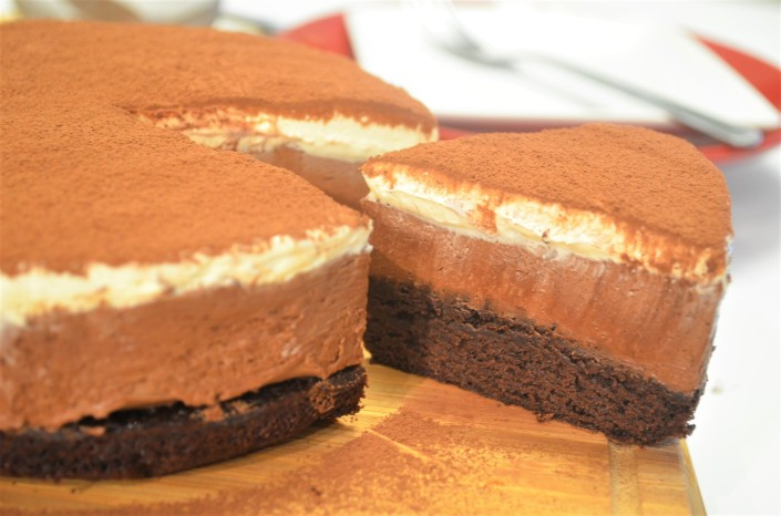 3 Layers Triple Chocolate Mousse Cake By SweetNSpicyLiving