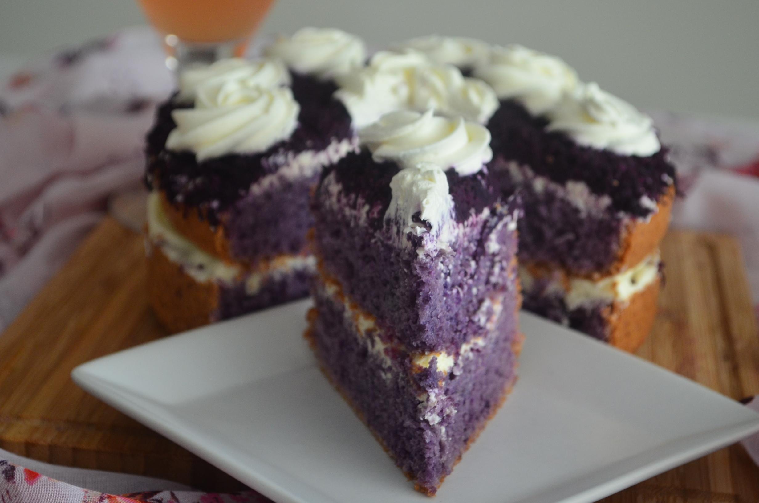 Small Batch Ube Chiffon Cake Recipe