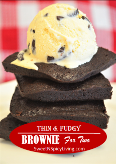 Thin and Fudgy Brownie for Two