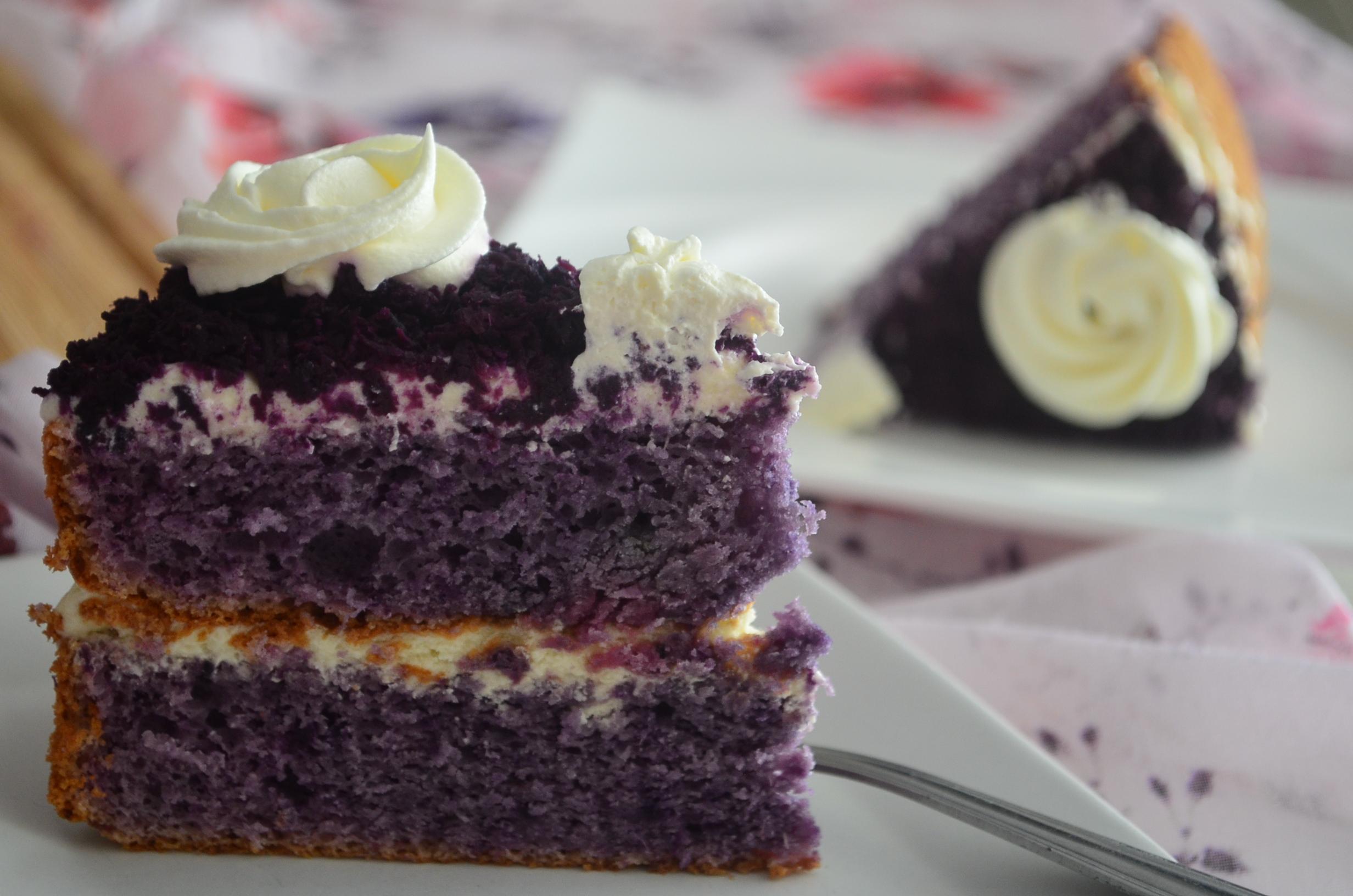 Ube Chiffon Cake Small Batch