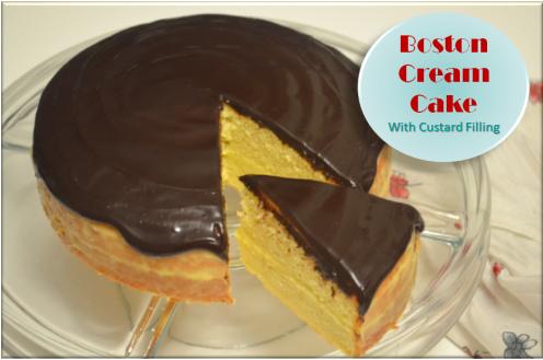 Boston Cream Cake 2