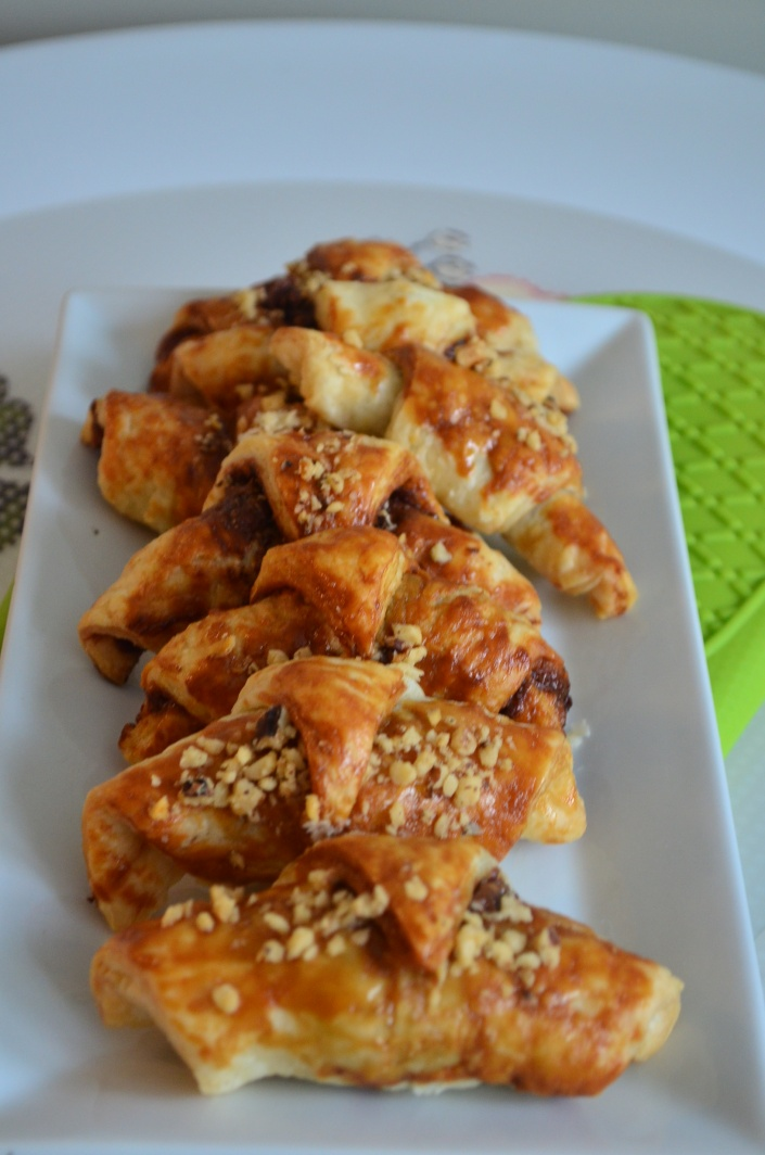 Puff Pastry Mini Chocolate Croissant