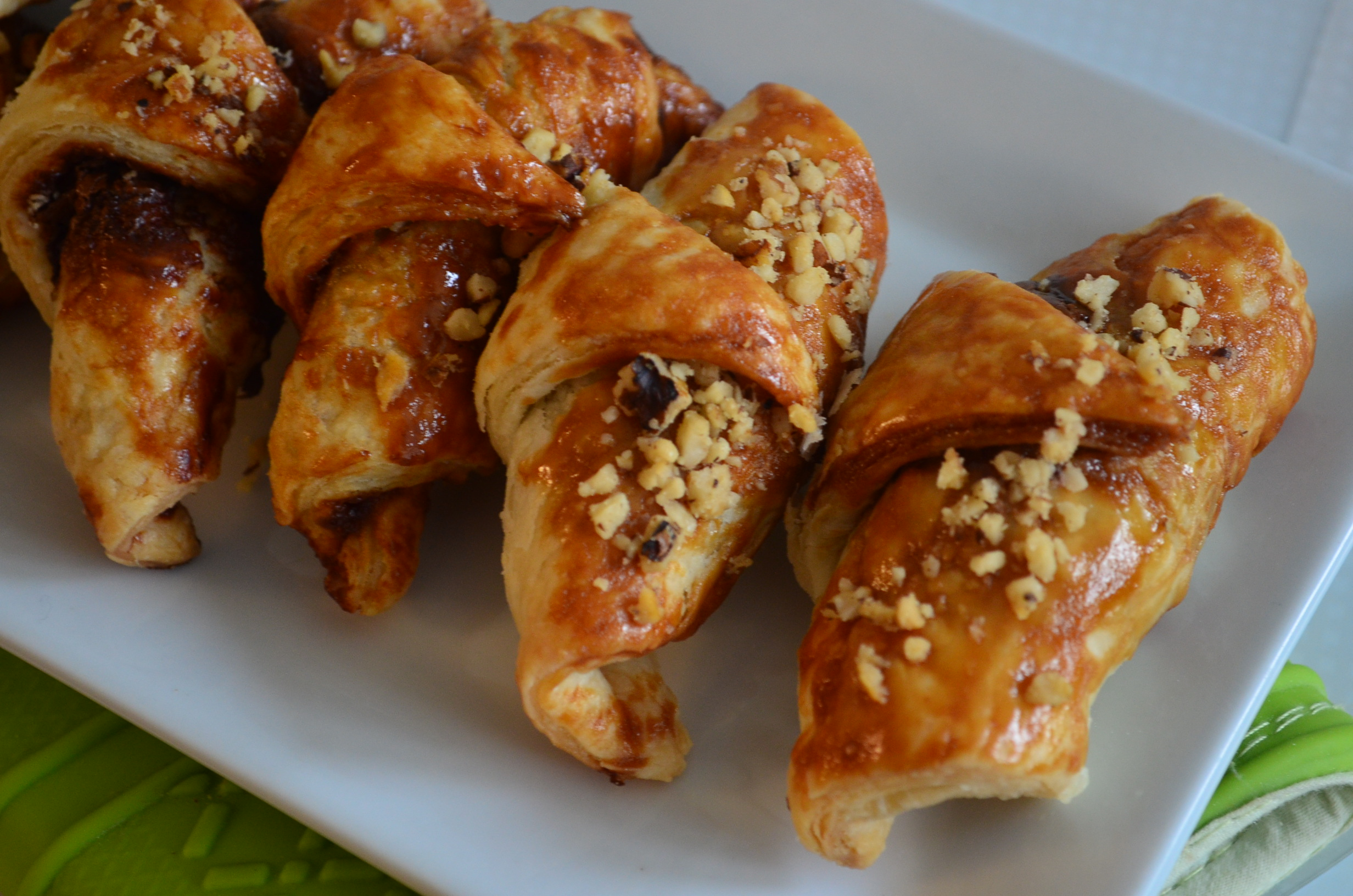 Puff Pastry Chocolate Croissant