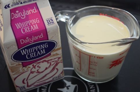 Cold whip cream