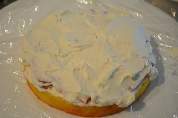 Cover with whipped cream