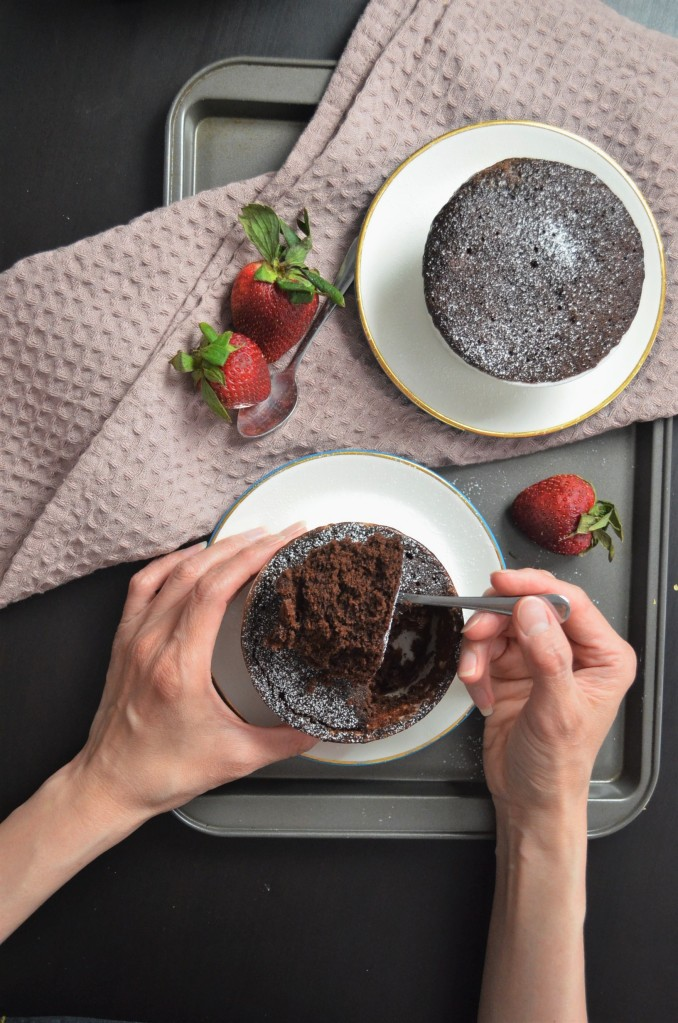 Small Batch Chocolate Mug Cake For Two By SweetNSpicyLiving