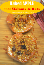 Baked Apple with Walnuts 2