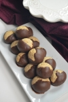 Chocolate Dipped Almond Ball Cookie