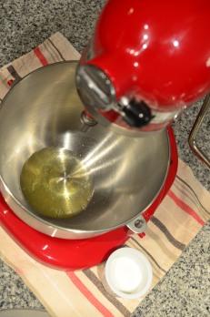 Pour egg whites in bowl