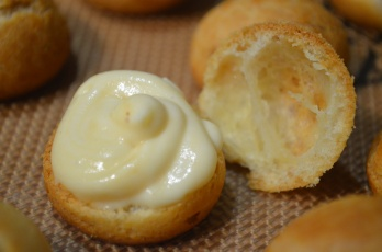 Fill pastry with cream