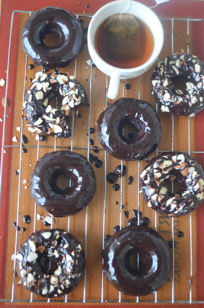 Homemade Baked Chocolate Donut By SweetNSpicyLiving