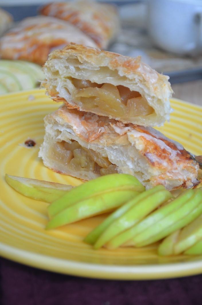 Small Batch Cinnamon Glaze Apple Turnover