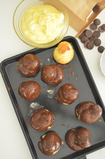 Small Batch Cream Puff with Chocolate Coating