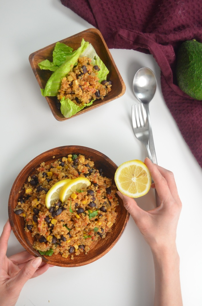 Black Beans and Quinoa Salad