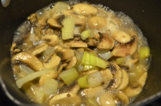 Saute Onion & Mushroom in butter