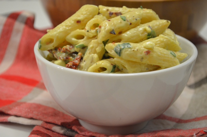 Pasta with Sun-Dried Tomato and Spinach Recipe