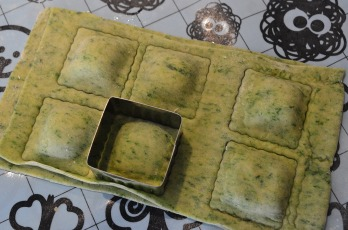 Homemade Spinach Ravioli